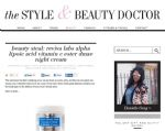 The Style & Beauty Doctor Reviews Alpha Lipoic Acid, Vitamin C Ester & DMAE Cream (#366)