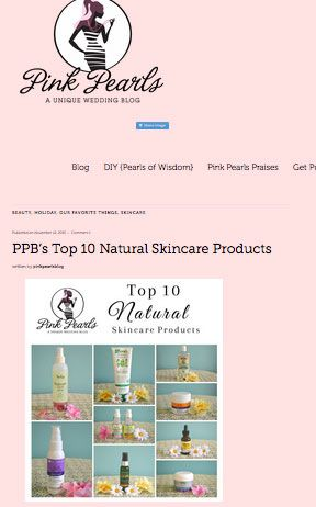 Chrissy and MiMi from Pink Pearls include four Reviva products in their Top 10 Natural Skin Care Products