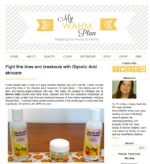 Linda at My WAHM Plan discovers the benefits of Reviva's Glycolic Acid products